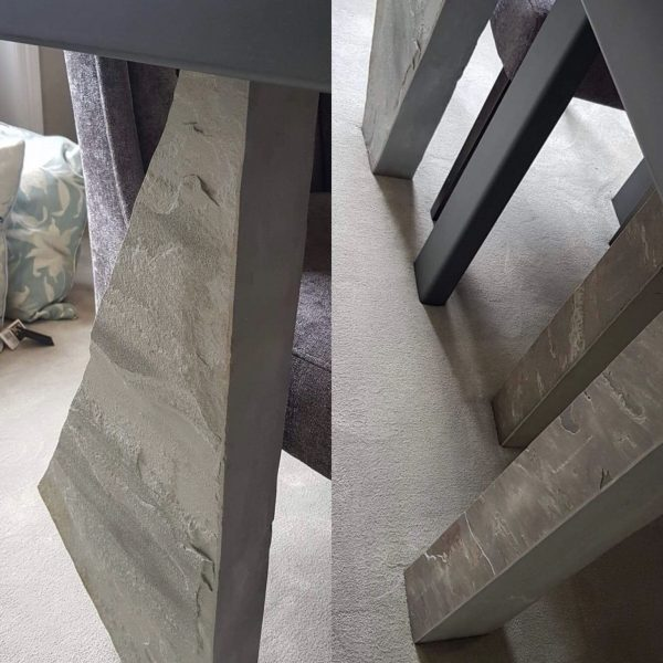 example of stone table leg options