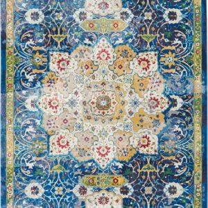 Ankara Global rug in blue | Persian Rugs | Turkish Rugs | Rug & Table Shop Halifax West Yorkshire | 01422 414459