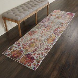 Ankara Global rug in ivory orange | Persian Rugs | Rug & Table Shop Halifax West Yorkshire | 01422 414459