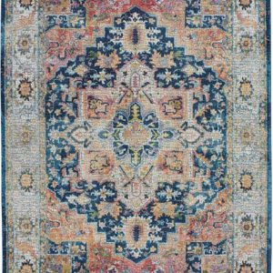 Ankara Global rug in blue | Persian Rugs | Turkish Rugs | Rug & Table Shop Halifax West Yorkshire | 01422 414459