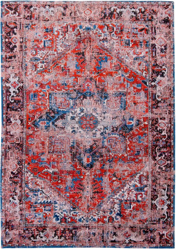Antique Heriz rug in colour classic brick