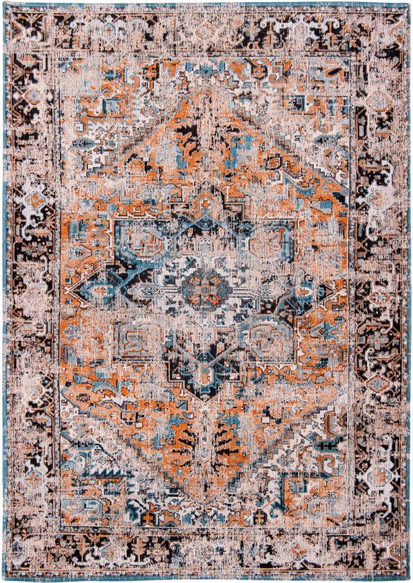 Antique Heriz rug in colour seray orange