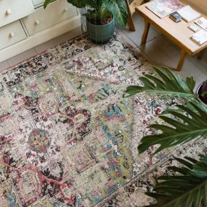 Louis De Poortere Rugs | Antique Heriz rug in colour avly green | Rug & Table Shop Halifax West Yorkshire | 01422 414459 |