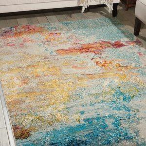 Celestial rug in seal