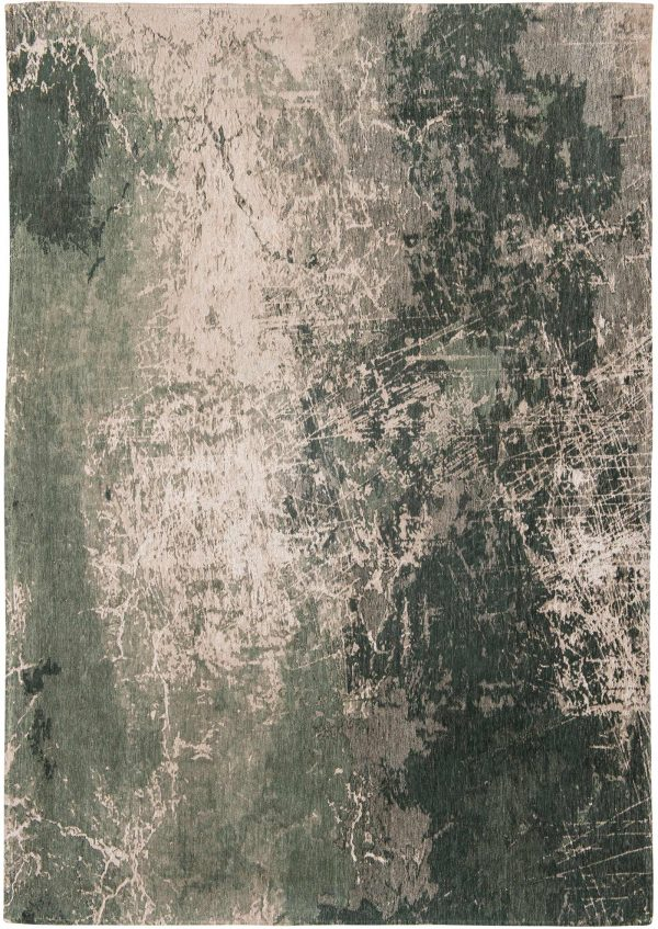 Cracks rug in colour dark pine