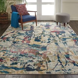Fusion rug in cream and multi-colour