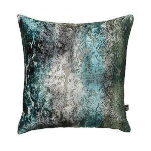 teal cushion front pattern