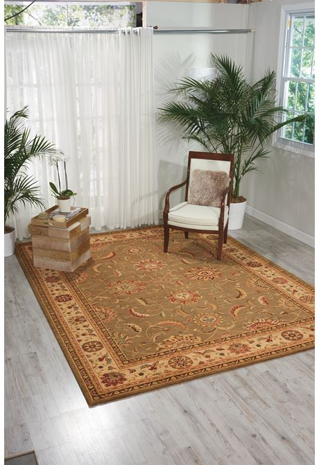 Living-Treasures traditional style rug in green