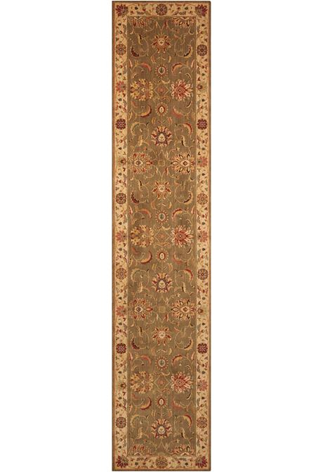 Living-Treasures traditional style rug in green runner