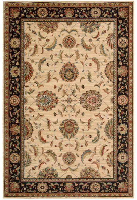 Living Treasures Ivory Black rug