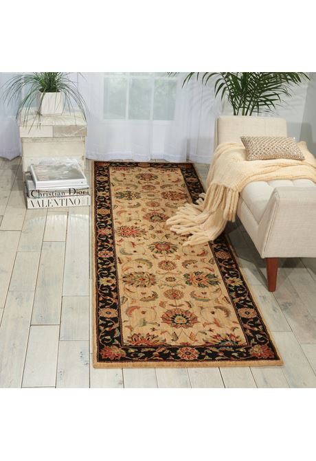Living-Treasures traditional style rug in ivory/black