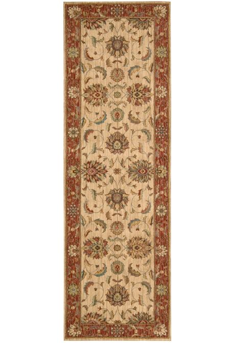 Living-Treasures traditional style rug in ivory/red