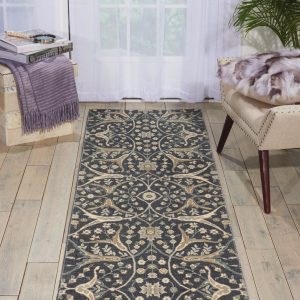 Luminance rug in colour graphite