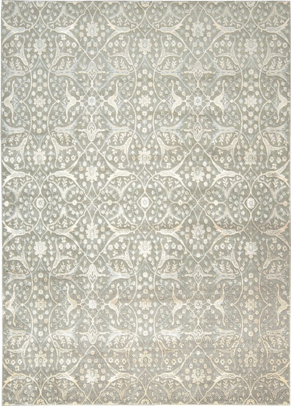 Luminance rug in colour steel