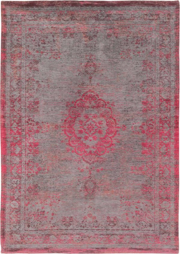 Medaillon rug in colour Pink Flash