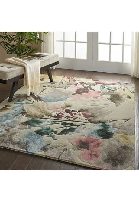 Prismatic rug in beige