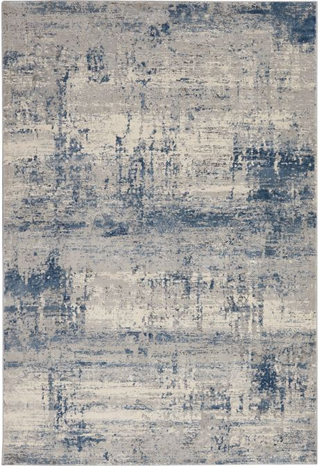 Rustic Textures rug in ivory blue