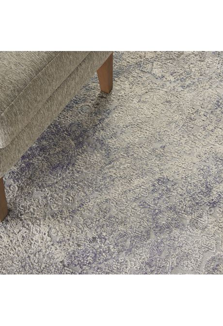 Rustic Textures rug in light blue