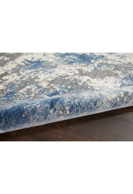 Rustic Textures rug in grey blue