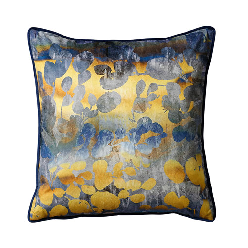 navy orche cushion pattern
