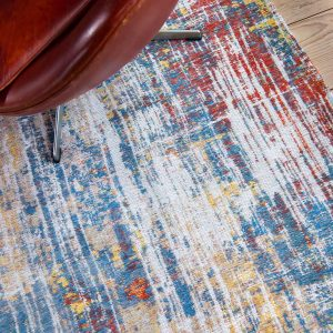 Streaks rug in colour montauk multi