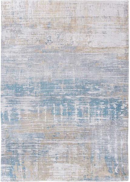 Streaks rug in colour Long Island Blue