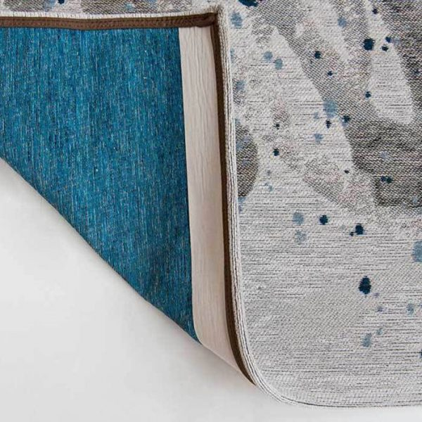Surf rug in colour blue waves
