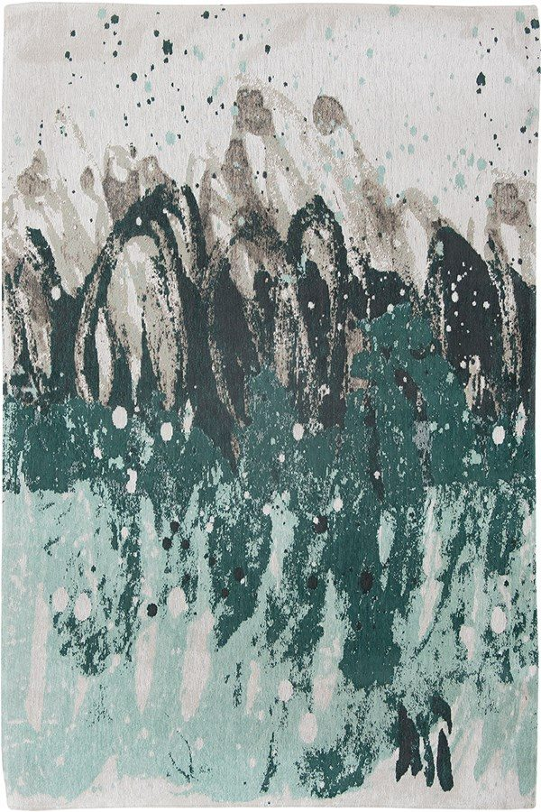 Surf rug in colour green waves