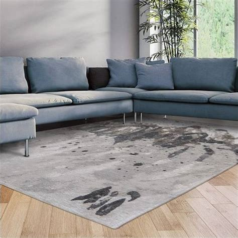 Surf rug in colour grey waves