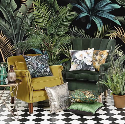 cushion display on chairs