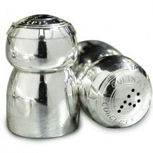 champagne salt and pepper pots