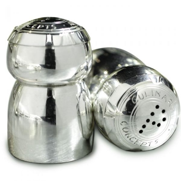 champagne salt and pepper pots