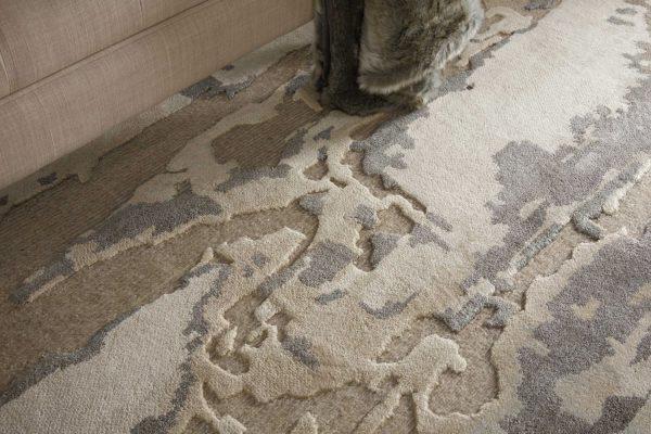 Divine rug in colour ash