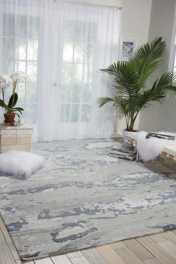 Divine rug in colour slate