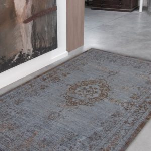 Medaillon rug in colour grey ebony