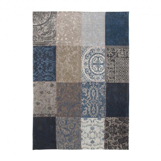 Louis De Poortere Rugs | Vintage Multi Louis De Poortere Rug | Rug & Table Shop Halifax West Yorkshire | 01422 414459 | Vintage multi blue denim rug