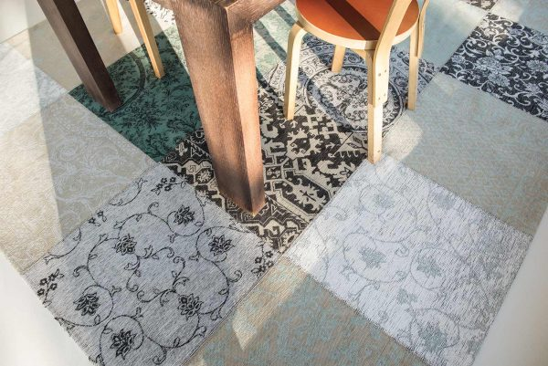 Louis De Poortere Rugs | Vintage Multi Louis De Poortere Rug | Rug & Table Shop Halifax West Yorkshire | 01422 414459 | Vintage multi ardennes green rug