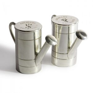 watering can salt and pepper pots