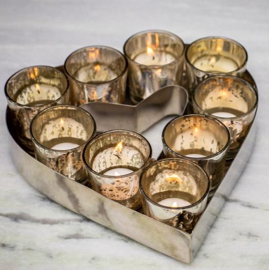 heart shape tealight candle holder