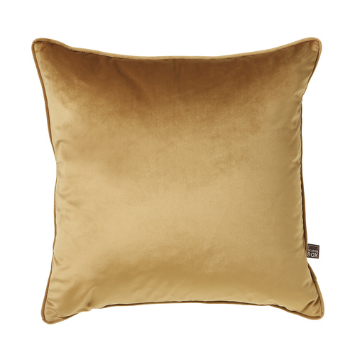 Antique gold velour cushion