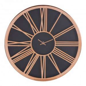 Black Face and copper metal Wall Clock