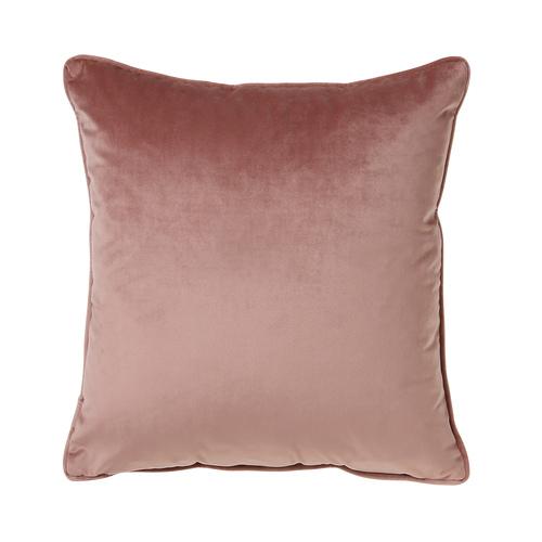 Antique rose velour cushion