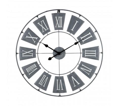Grey Metal Wall clock at 70cm
