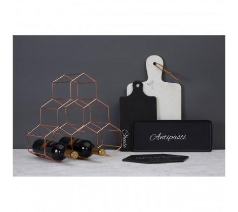 Vertex 6 Bottle Wine Rack copper with accesories
