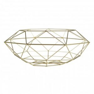 Vertex Fruit Basket Gold metal