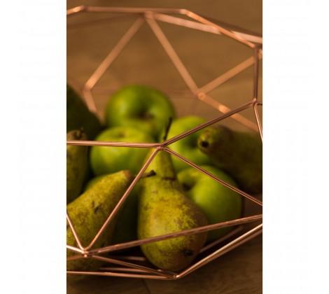 Vertex Fruit Basket in copper close up