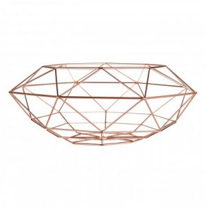 Vertex Fruit Basket in copper