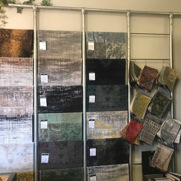 rug sample selection