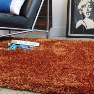 Shaggy Rugs | Deep Pile Rugs | Rug & Table Shop Halifax West Yorkshire | 01422 414459 | Orange Shaggy Rug