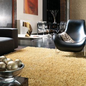 Shaggy Rugs | Deep Pile Rugs | Rug & Table Shop Halifax West Yorkshire | 01422 414459 | Plush Gold Metallic Rug